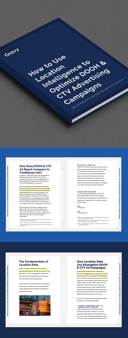 How to Use Location Intelligence to Optimize DOOH & CTV Advertising Campaigns eBook